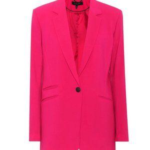 Ridley Stretch-wool Blazer In Pink